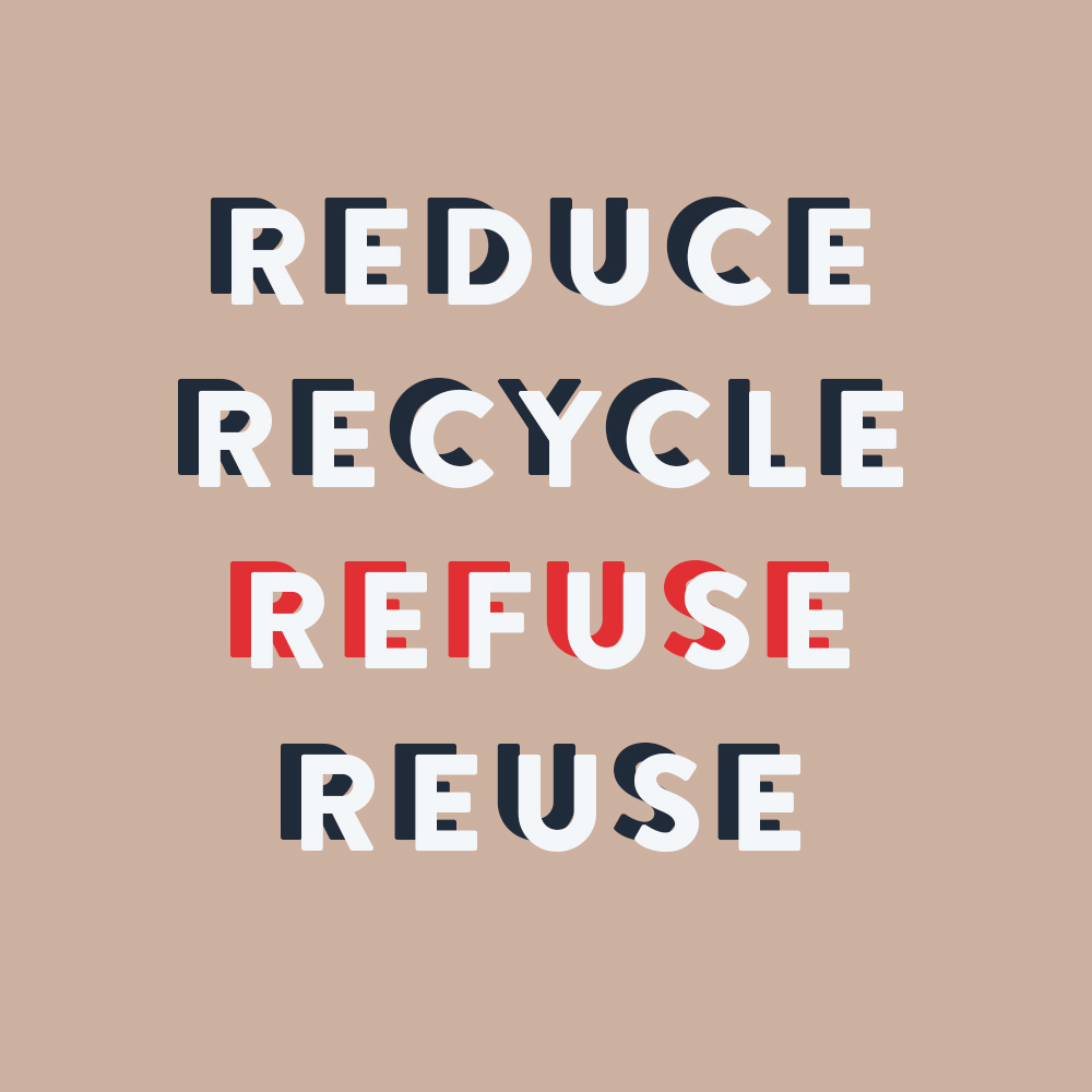 Reduce Recycle Refuse Reuse